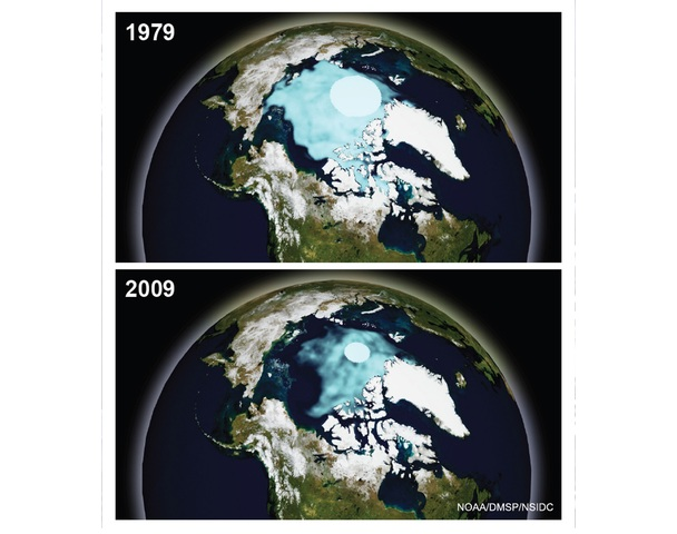 Polar Ice Cap Before and After