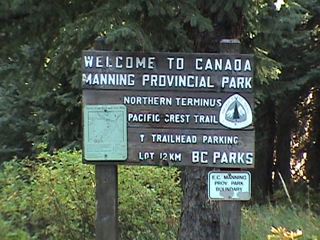 Canadian Border Crossing on the PCT